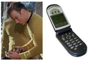 James T Kirk and his trusty 'motorola'