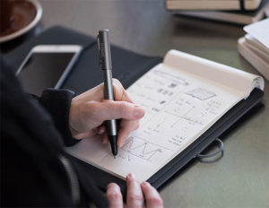 Devices like the Wacom Bamboo Spark let you digitize your handwriting