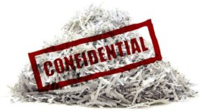 Shred anything that has personal or financial details