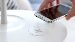 Tables with built in wireless charging
