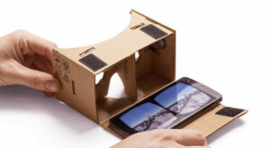 A small amount of cardboard and you have yourself a VR headset